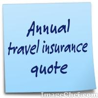 Annual travel insurance quote