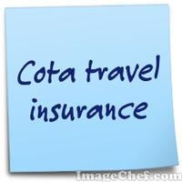 Cota travel insurance