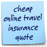 cheap online travel insurance quote
