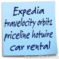 Expedia travelocity orbitz priceline hotwire car rental
