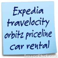 Expedia travelocity orbitz priceline car rental