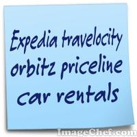 Expedia travelocity orbitz priceline car rentals