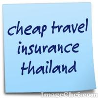 cheap travel insurance thailand