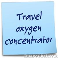 Travel oxygen concentrator