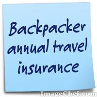 Backpacker annual travel insurance