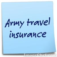 Army travel insurance