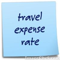 travel expense rate